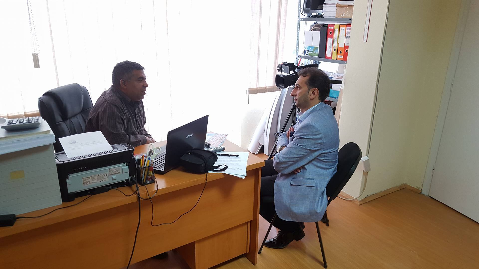 Visit of NRC and interview for RTK Kosovo Roma Redaction