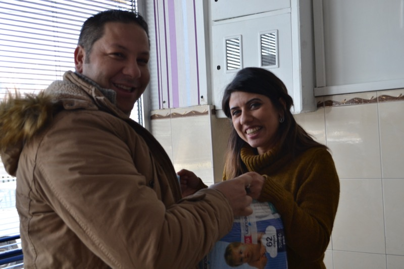 Becutan packets for 200 babies National Roma Centrum